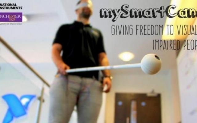 Powstała ultradźwiękowa laska dla osób niewidomych